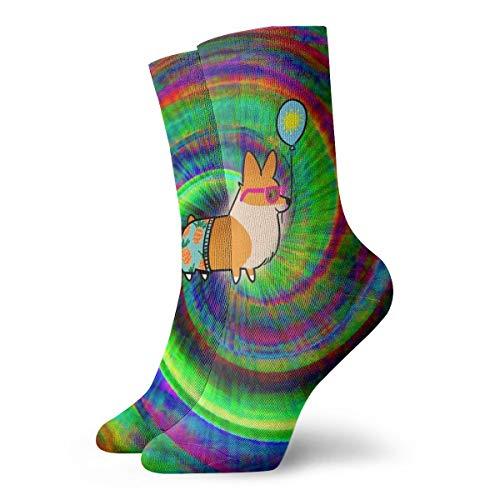 Pengyong - Calcetines de colores para hombre y mujer, diseño de arcoíris