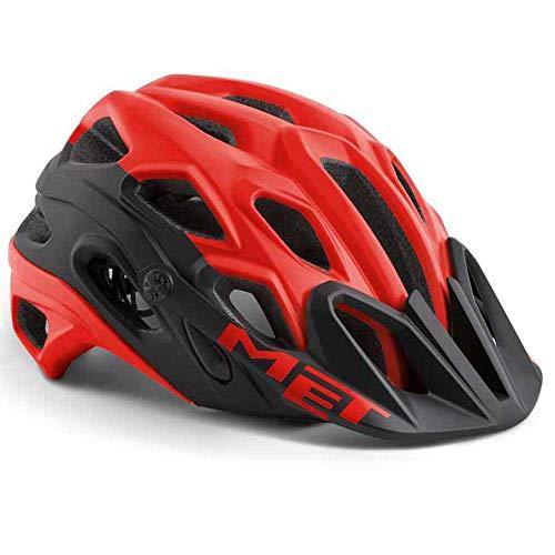 MET Casco Bici Ciclismo Mountain Bike MTB Lupo Rosso Red Taglia M 54/58 cm