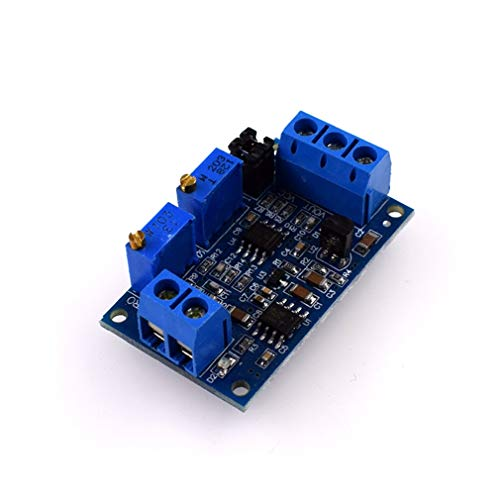 CandyTT HW685 Strom-Spannungs-Modul 0/4-20mA bis 0-3.3V5V10V Signalwandler für Spannungswandler Unterstützung mehrerer Bereiche (blau)