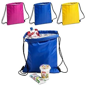 ANTEVIA - Lot de 3 sacs isotherme 27 x 33cm | PLUS DE 10 MODÈLES | Glacière | Matière: Polyester 210D |Couleur : Violet Bleu Jaune (Tradan)