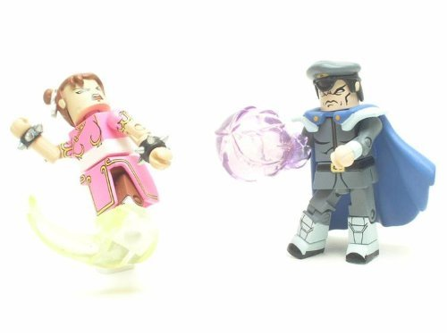 Street Fighter Action Figures Chun Li vs M. Bison Player 2 Minimates Two-Pack