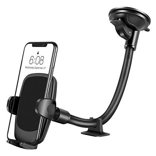 Eono by Amazon- Handyhalterung Auto, Verbesserte Telefonhalterung für die Autowindschutzscheibe, Waschbarer Saugnapf mit Langem Arm, Autohalterung kompatibel mit iPhone 12 11 Pro Max, XR/X/8/7/6 Plus
