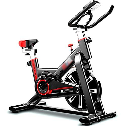 YHRJ Bicicleta giratoria Ajustable silenciosa,Bicicleta de Spinning para Gimnasio en casa,Bicicl estática para Adelgazar con Reloj electrónico,Puede soportar 130kg