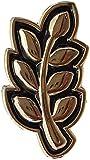 Malalpha - Pin masónico con hoja de acacia negra y oro