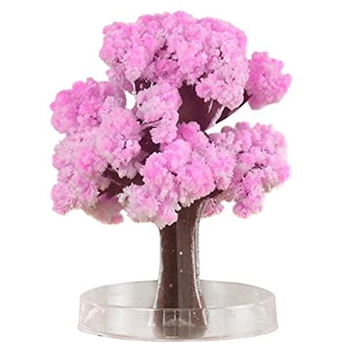 Árbol De Crecimiento De Papel De Sakura Crystal Trees De Escritorio Flor De Cerezo Juguetes De Diy Rosa De Escritorio Cerezo Flor De Los árboles De