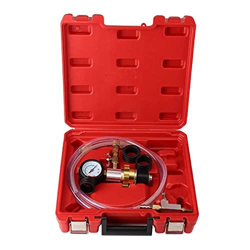 Tiffasha Kit de Herramientas de Recarga de vacío, reemplazo de refrigerante Universal, Bomba de Tipo de vacío, Herramienta de Cambio de inyector de refrigerante de automóvil con Estuche
