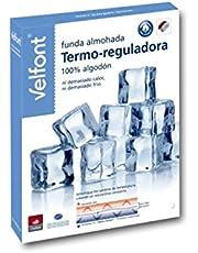 Velfont Funda Almohada Termo-reguladora 100% algodón - Temperatura Constante Durante la Noche (70cm)