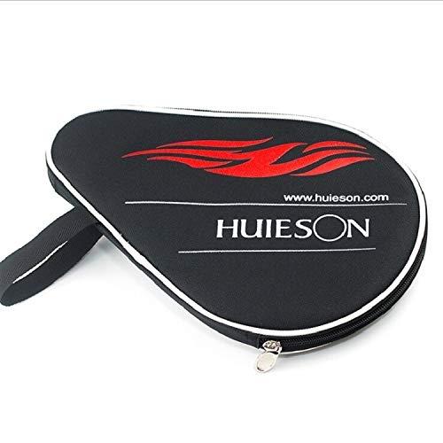 YIXIE Tischtennisschläger mit Ball Bag Sizing: 30x20.5cm (schwarz), HS-PT-H02 Kürbis-förmigen Zipper Oxford Cloth Ungeteilte Tischtennisschläger mit Ball Bag WEEXIZHIGUANGLIYA (Color : Black)