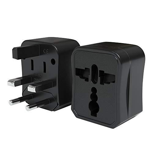 EAZY CASE Universal Reiseadapter 150 Länder weltweit – Stromadapter, Reisestecker für Weltreisen, u.A. für USA, Australien, Asien, Kanada, UK, Afrika, Thailand, Neuseeland, China, Südamerika, Schwarz
