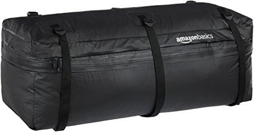 AmazonBasics – Erweiterbare Gepäcktasche für Heckträger, schwarz, 250 l, erweiterbar auf 325 l