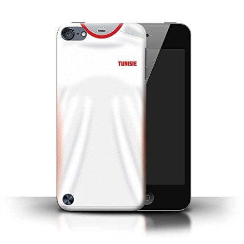 Stuff4 Custodia/Cover/Caso/Cassa Rigide/Prottetiva Stampata con Il Disegno Coppa Mondo 2018 Maglietta Calcio per Apple iPod Touch 5 - Tunisia/Tunisino