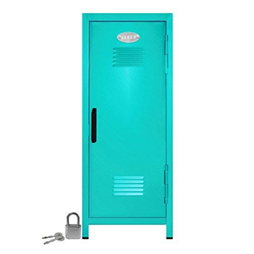 Mini Schrank mit Schloss und Schlüssel Blaugrün -10.75