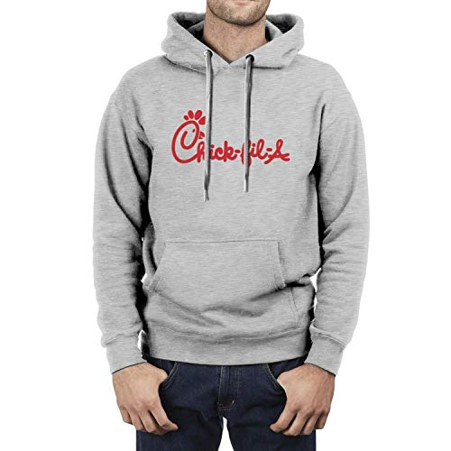 Men's Classic Good-Stretch Hoodie Chick-Fil-A-Logo-Red- Print Sweatshirt with Pocket Hoodies Jacket