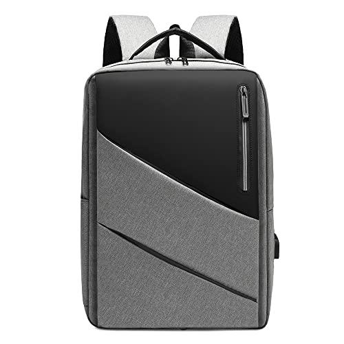 Bolsa de portátil for Hombre Mochila USB Mochila de Carga Mochila de Moda Casual (Color : Gray, Size : 30X13X41cm)