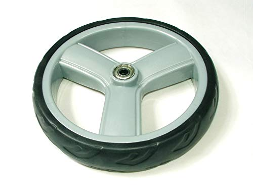 Rollator wiel 170x40mm massief (kaigo soft) grijze velg/zwarte band