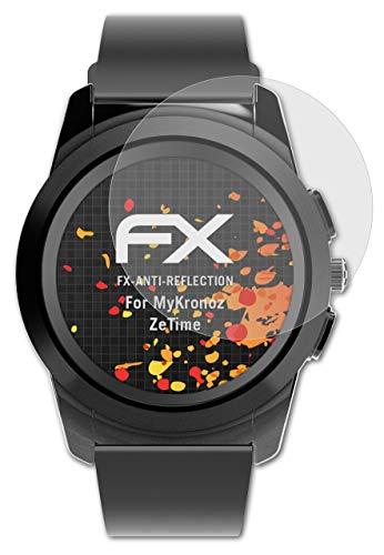 atFoliX Panzerfolie kompatibel mit MyKronoz ZeTime Schutzfolie, entspiegelnde & stoßdämpfende FX Folie (3X)