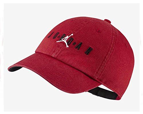 Nike Jordan H86Air Cap, Mütze Herren Einheitsgröße Rot/Schwarz