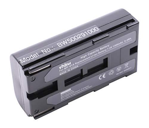 vhbw batería Compatible con Canon C2, DM-MV1, DM-MV10, DM-XL1, DM-XL1s, E1, E2, E30, ES-300V cámara de vídeo, videocámara (1300mAh, 7,2V, Li-Ion)