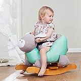 Équitation Jouets for Enfants, 1-3 Year Old Rocking Chair équitation Bois Cheval Jouet, Intérieur en Peluche Rocking Horse, Cadeau bébé Rollsnownow