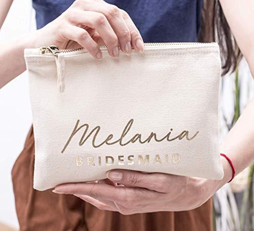Bridesmaid Cosmetic Bag Personalized Makeup Bag Bridesmaid
