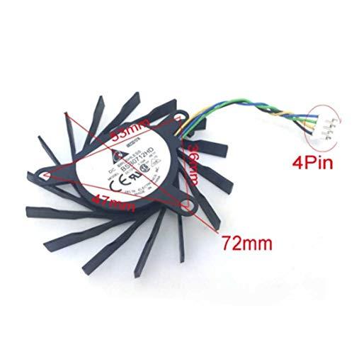 QHXCM BSB0712HD 12V 0.33A 72mm 36mm*47mm*53mm 4Pin for NVIDIA 9600GT 9800GT EVGA 7010 Graphics/Video Card Cooling Fan Cooler
