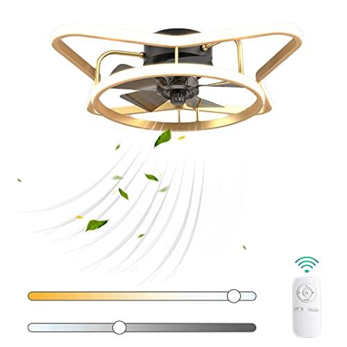 VOMI Creatividad Ventilador de Techo con Luz 52W LED Regulable con Mando a Distancia Moderno Silencioso Metal Lámpara de Ventilador 3 Velocidades de Viento Ajustables para Cuarto de Los Niños