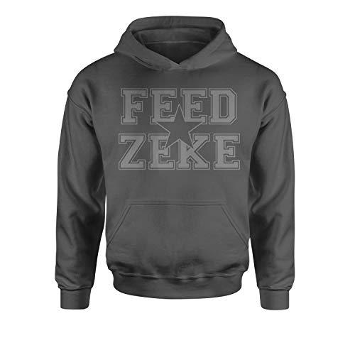 Youth Hood Feed Zeke Medium Charcoal Grey
