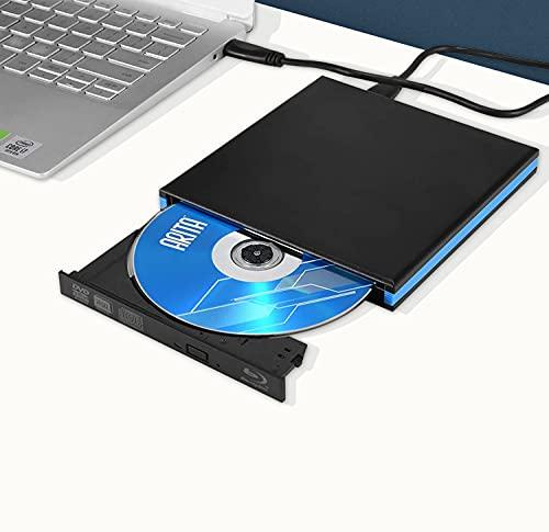 TTLIFE unità Dvd Blu Ray 3D Esterna USB 3.0 e Type-C Bluray BD Dvd CD Masterizzatore Ottico Compatibile con MacOS, Windows XP   7 8 10 per MacBook, PC Desktop Portatile