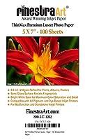 5x 7Finestraアートプレミアム光沢インクジェット写真用紙–100シート8.5Mil