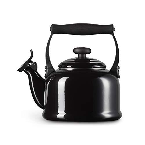 Le Creuset Wasserkessel, Füllmenge: 2,1 l, Emaillierter Stahl/Phenolgriffe, Tradition, Schwarz