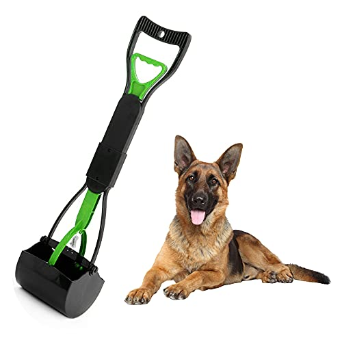 Pooper Scooper by Temmel I Dog Pooper Scooper I Pet Waste Pick Up Jaw Scooper Without Smelling, High Strength Material and Professional Ergonomic Design, Poop Scoop for Large and Small Dogs