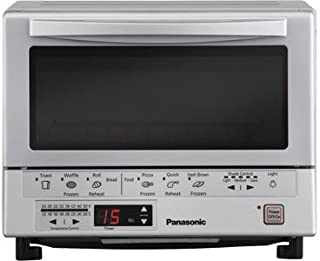 Panasonic 1300 Watts FlashXpress Toaster Oven, Features Instant Double Infrared Heating, with 6 Illustrated Preset Buttons and Automatically Calculates Cooking Time, Includes a Digital Timer with Reminder Beep and a 9