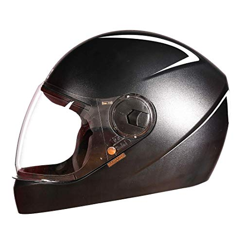 Steelbird SBH-21 Wiz Reflective Full Face Helmet (Large 600 MM, Dashing Black...