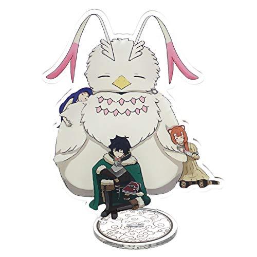CoolChange Figura de plástico con Soporte de The Rising of The Shield Hero con Las Figuras de Naofumi Iwatani, Raphtalia, Melty y Firo   15cm