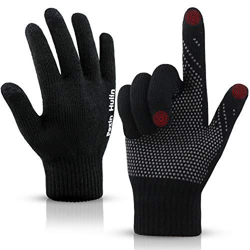 Knit Touch Screen Gloves for Man & Women, Unisex Winter Warm Touchscreen Glove