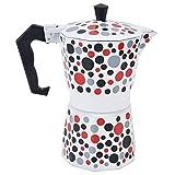 Cafetera -6 tazas Patrón de apliques Forma octogonal Cafetera Olla Moka Herramienta para hacer café para uso doméstico