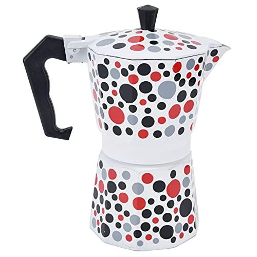 Cafetera, cafetera de alta temperatura, mano de obra fina, práctica con 300 ml para cocina de inducción, cocina de cerámica eléctrica para la familia