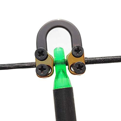 Ace Hunter Compound Bow Metal D Loop Release Bow String Nock D Ring U Loop String (Black)