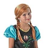 Frozen - Peluca de Anna con trenzas para niña, Talla única infantil (Rubie's 36172)
