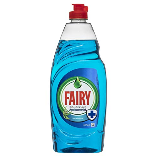 Fairy Antibacterial Washing Up Liquid Eucalyptus for Sparkling Clean Dishes and Protects You Sponge for Up to 24 Hours Against Bacterial Growth, 625 ml