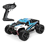 Moerc 1/24 All Terrain RC Coche 4WD Aleación Rock Crawlers 4x4 Conducción Cross-Country Double Motors Drive Big Pie Remote Control Riftting Car Off-Road Vehicle Kids Toy Toy Chargable Red