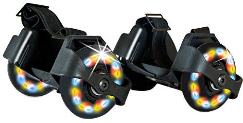 Schildkröt Funsports Unisex 2 Fersenroller mit Led Beleuchtung, 970302 Flashy Roller, Schwarz, Einheitsgröße EU