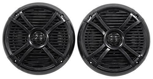 """Pair Rockville RMSTS80B 8"""" 1000w Waterproof Marine Boat Speakers 2-Way Black"""