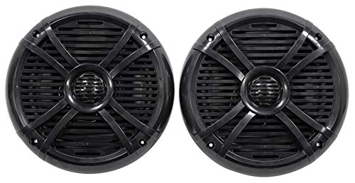 "Pair Rockville RMSTS80B 8"" 1000w Waterproof Marine Boat Speakers 2-Way Black"