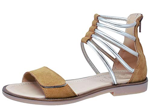 Momino Sandalen 2578 Leder Klassisch Römer Nuss Gold, Schuhgröße:EUR 37