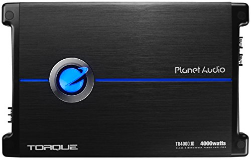 Planet Audio TR4000.1D Paar 4000 Watt 1 Ohm stabiele klasse D versterker monoblock auto met afstandsbediening subwoofer