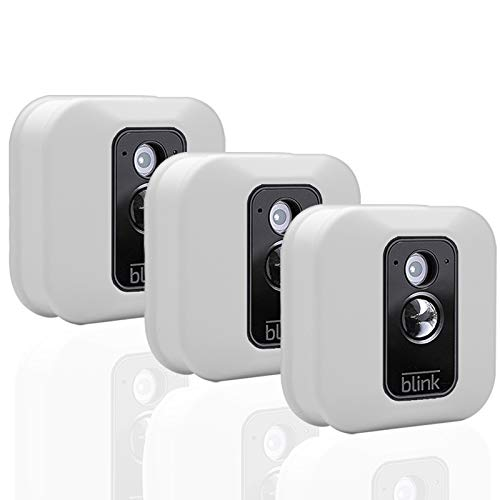 Blink XT/XT2 Skins, Blink Home Security Accessories, 3pcs Silicone Skin for XT/XT2 Camera, Weather Proof 360 Degree Protection, Indoor Outdoor Best Home Accessories, White Cover for Blink Set of 3