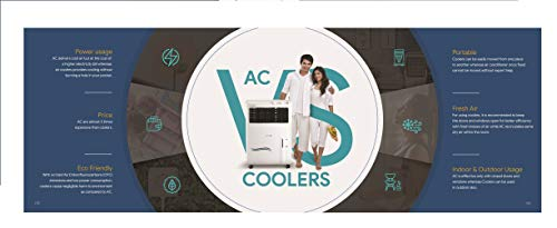 Crompton Ozone 88-litres Desert Air Cooler with Honeycomb Pads(White/Turquoise)