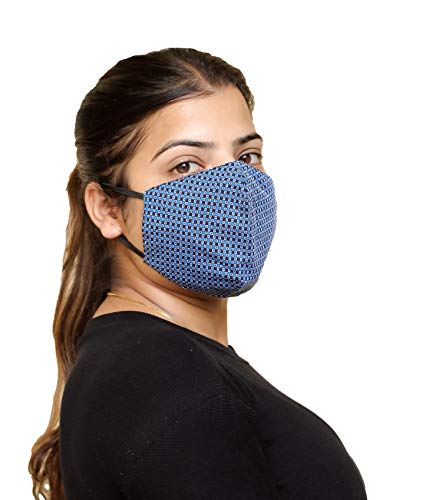 Nutra Earth 3 Layered Designer Cotton Cloth Face Mask Resuable& Washable For...