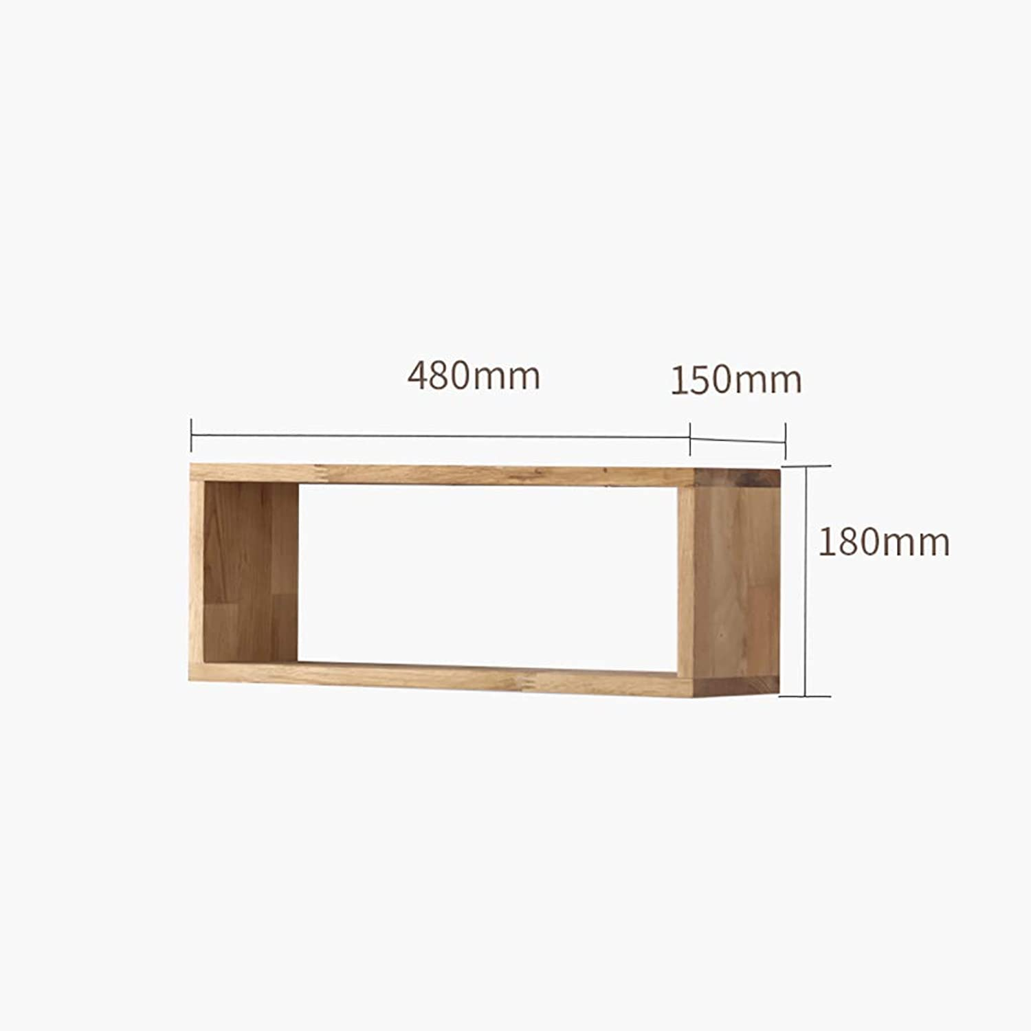 CD Rack Floating Unit Frame Wall Bookshelf Separator Wood Wall Shelf Wall-Mounted Storage Rack Wall Decoration Retro Style (color   D)